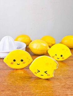 Super Cute Lemon Cookies with Lemony Royal Icing