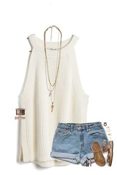 """""""•57 question tag•"""" by maggie-prep ❤ liked on Polyvore featuring Madewell, Birkenstock, Kendra Scott, tarte, Too Faced Cosmetics, Urban Decay and MAC Cosmetics"""