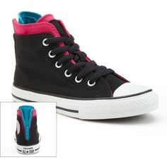 $40.00 Converse Black All Star Zip High-Top Sneakers for Girls