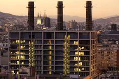 Las trillizas industriales, Barcelona, Spain