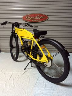 JE CUSTOMS cafe racer style motorised bicycle