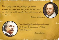 Inspirational Quotes from 2 great people.