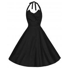 Myrtle Black Swing Dress | Vintage Inspired Fashion - Lindy Bop