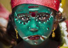 Little Khali, Maha Shivaratri festival, Angalamman Temple, Kaveripattinam We Are The World, People Around The World, Photomontage, Shiva, Krishna, Portraits, Beautiful Children, Beautiful People, Face Art