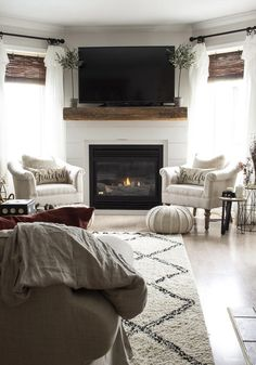 Our circa 1999 fireplace mantel had been updated but still wasn't pretty. So, we did a Shiplap and Barn Beam Fireplace Mantel Makeover. Shiplap Fireplace, Fireplace Remodel, Fireplace Mantels, Fireplaces, Propane Fireplace, Farmhouse Fireplace, Christmas Fireplace, Cottage Farmhouse, Fireplace Ideas