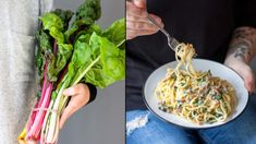 Mangold se v nabídce zelinářů na farmářských trzích začal objevovat před pár lety. Spaghetti, Ethnic Recipes, Food, Essen, Meals, Yemek, Noodle, Eten