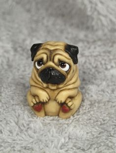 Kawaii polymer clay LIMITED EDITION mini pug series by Sara Rojo. Etsy shop: https://www.etsy.com/es/shop/TwilightFantasyPugs?ref=l2-shopheader-name Facebook page: https://www.facebook.com/TwilightFantasyPugs/