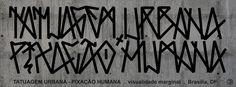 tipografia pixação