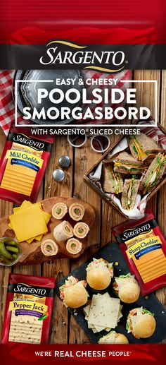 Summers were made to be outside – not hours in the kitchen. Pack a cooler with finger sandwiches, made with our real, natural cheese slices, that will make everyone happy. Try turkey with a kick of Sargento® Pepper Jack or honey ham with our smooth M Seafood Recipes, Indian Food Recipes, Appetizer Recipes, Appetizers, Finger Sandwiches, Wrap Sandwiches, Gluten Free Recipes, Vegetarian Recipes, Cooking Recipes