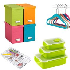 Let's organize! Lots of great products to check out from popular sites to help you put clutter in its place.
