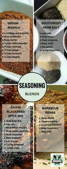 DIY spice mixes based on homemade recipes - .- DIY spice mixes based on homemade recipes – # DIY spice mixes to Homemade Spices, Homemade Seasonings, Homemade Spice Blends, Homemade Recipe, Cooking Tips, Cooking Recipes, Cooking Lamb, Smoker Cooking, Cooking Classes