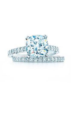 Sponsored: Tiffany® Novo Engagement Ring; Tiffany® Novo Band Ring in platinum, @tiffanyandco