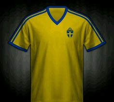 Sweden home shirt for the 1974 World Cup Finals.