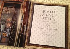 Title page of FIFTH AVENUE STYLE by Howard Slatkin, out October 15th.