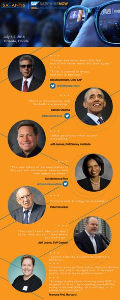 10 The Most Notable Quotes from the Best Thought Leaders at SAPPHIRENOW & ASUG Conference 2018 #SAP #conference