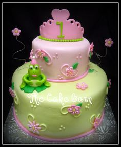 frog birthday theme   design had bumble bees, but the mother wanted us to add a frog ...