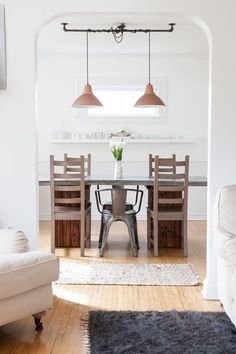 Light fixture, hanging 2 from 1  Jaimee & David's Light & Simple Scandinavian-Inspired Home