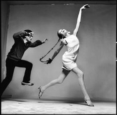 Richard Avedon with Veruschka, 1967