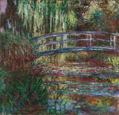 A Ponte Japonesa / O Lago com Ninféias (The Water Lily Pond) - Claude Monet Lily Pond, Monet Paintings, Landscape Paintings, Claude Monet, Boston, Cultural, Museum Of Fine Arts, Water Lilies, Artist At Work