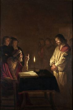 Gerrit van Honthorst: 'Christ before the High Priest' Hanging in the National Gallery, Trafalgar Square. The light in the painting is amazing - needs to be seen in real life Caravaggio, Catholic Art, Religious Art, Catholic Online, Art Du Temps, Image Jesus, Tableaux Vivants, Jesus E Maria, National Gallery