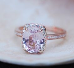 reserved for CM Rose gold engagement ring. Peach by EidelPrecious