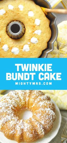Twinkie Bundt Cake - This giant homemade Twinkie cake is so moist and delicious it will satisfy your craving in a BIG way! This easy recipe is fun to make and is great for celebrating special occasions or milestones. Would also be a cute dessert for a Min Bundt Cake Pan, Bunt Cakes, Pound Cake, Dessert Simple, Candy Melts, Food Cakes, Cupcake Cakes, Minion Party, Easy Desserts