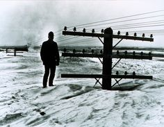 This iconic photo was more than just a black and white picture for those living in North Dakota in March of 1966 - it was reality. Best Picture For North Dakota logo For Your Taste You are looking for North Dakota, Iconic Photos, Old Photos, Rocky Mountains, Historic New England, Great North, Winter Storm, Extreme Weather, Black And White Pictures