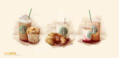 Starbucks ilustrace na Behance