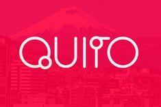 Quito Free Font #freefonts #fontsfordesigners #freetypeface