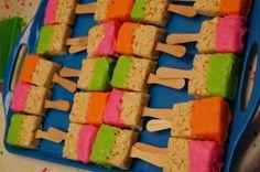 Neon Chevron Rainbow Birthday Party Ideas | Photo 6 of 15 | Catch My Party