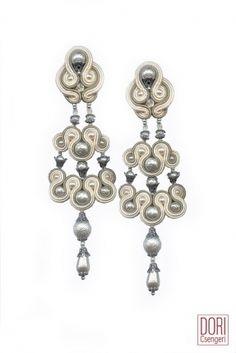 White Cascade Earrings