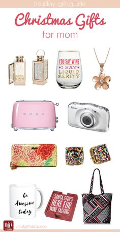 Holiday Gift Guide for Mom and mother in law. 10 beautiful Christmas gifts for mom.