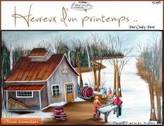 Heureux d'un printemps ... Fashion Painting, Under Construction, Tudor, Painting On Wood, Vintage Photos, Cabin, House Styles, Painting Styles, Image