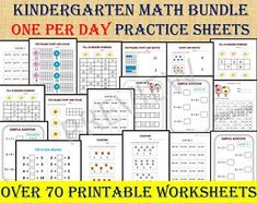 Math Addition Worksheets for Grade 1 one per day/ Year Math Addition Worksheets, Printable Preschool Worksheets, 1st Grade Worksheets, 1st Grade Math, Grade 1, Preschool Activities, Homeschool Worksheets, Free Printables, Home