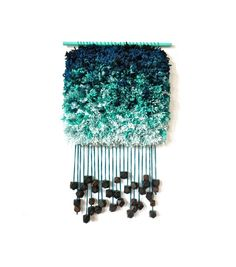 Handwoven Tapestry Furry Cloudy Teardrops by jujujust on Etsy