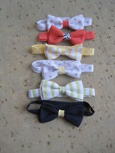 I'm not kidding when I say this bow tie tutorial is the   easiest ever .      The pattern is super simple.   No measuring. Min...