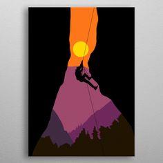 Travel Illustration, Nature Illustration, Digital Illustration, Climbing Girl, Rock Climbing, Community Hospital, Escalade, Graffiti Painting, Raccoons