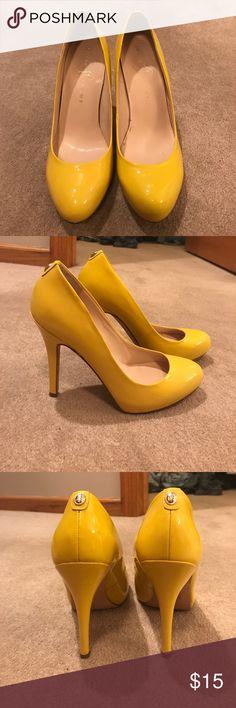 "Ivanka Trump yellow pumps Ivanka Trump yellow pumps. 4"" heel Ivanka Trump Shoes Heels"