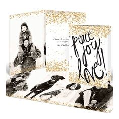 More Christmas Card Photo Ideas - Black & Gold #peartreegreetings #photoideas