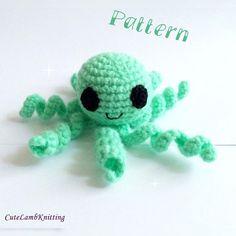 Crochet pattern, amigurumi pattern, Crochet octopus pattern, crochet amigurumi, crochet stuffed animal, crochet animals, crochet plush toy