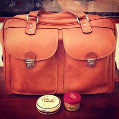 Some tips I received from a leathersmith in Rome. Now my vintage bag looks almost new.