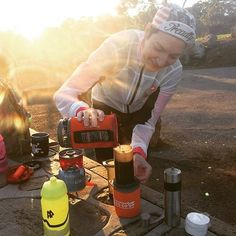 Doing that #coffeeoutside thang this morning. Fantastic crew coffee views and sunrise - what more could you ask for? Thanks @treadlybikeshop @lilbikenerd for organising! The first of the month is my favourite day now  Lovely  by @_seal_rides_bikes #aeropress courtesy of @b.ethanymags Not pictured are the 25-30 other cyclists out brewing and drinking coffee on this fine winter morning! #rideyourbike #ridelikeagirl #treadlyadventureclub #adventuresinaustralia #firstdayofwinter #radelaide…