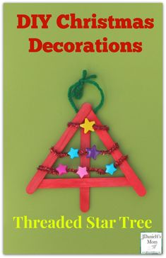 to work on their fine motor skills while creating this keepsake Christmas ornament.