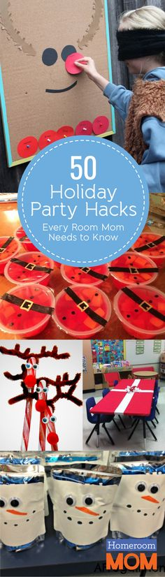 Awesome PTO and PTA party ideas/shortcuts/tips for classroom holiday parties!