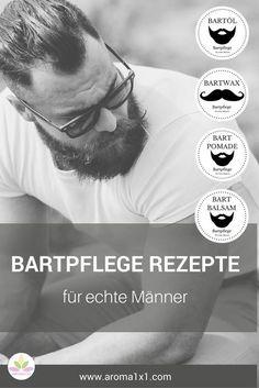 Diese BARTPFLEGEPRODUKTE sind ein MUST-HAVE für jeden Bartträger und sind supereinfach selber herzustellen. Denn Mann trägt wieder Bart ♂♂♂. Aber gepflegt muss er sein! Und gut duften darf er auch :-) Bartöl und Bartbalsam geben Pflege, Feuchtigkeit und Glanz. Möchte Mann einen ganzen Bart (z.B Vollbart) in Form bringen empfiehlt sich eher ein Bartbalsam oder eine Bartpomade. Probier es aus! Beard Balm, Hobbies For Adults, Hobbies For Men, Rc Hobbies, Best Beard Oil, Hobby Shops Near Me, Cute Black Guys, Recipes, Crafting