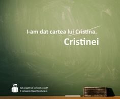 Forma corectă în genitiv / dativ pentru substantivele proprii de gen feminin este: Cristinei, Oanei, Anei, Danei șamd.   Excepţie fac numele străine (lui Marry, lui Susanne șamd) sau substantivele proprii de gen feminin care se termină în consoană (lui Carmen, lui Ingrid șamd).