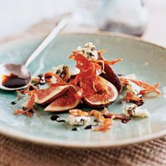 Sweet-tangy balsamic vinegar reduces to a syrupy glaze that glistens atop this simple yet elegant first course.
