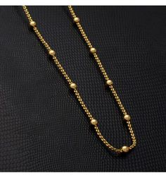 Gold Plated Link Chain for daily use. With its trendy design, both women and teenagers will like to wear this. It can be used as Party & Daily Wear.
