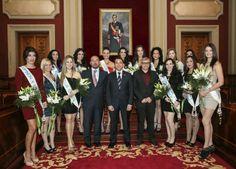 Recepción del alcalde Jose Manuel Bermúdez, a las candidatas a Reina del Carnaval de Santa Cruz de Tenerife 2013. Foto 2