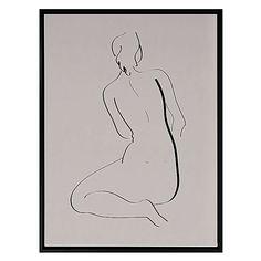 In Profile Framed Canvas Print, Grey by A La Mode Studio   Zanui